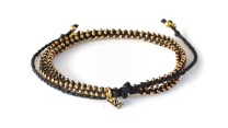 Wakami Life is What You Make of It - Wrap Bracelet/Short Necklace - Black/Gold WA0295-34