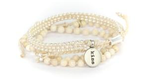 armband, beige, Energy, Fair Trade, Guatemala, hantverk, pärlor, P.S. Kiss, kyss
