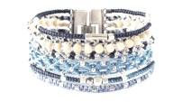 All One, armband, blå, Fair Trade, Guatemala, hantverk, manschett, silver, Wakami