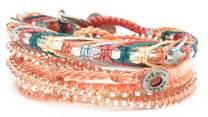 2016, aprikos, armband, Fair Trade, gul, mint, modesmycken, Paket och kombinationer, silver, sommar, turkos, vår, Wakami, wrap