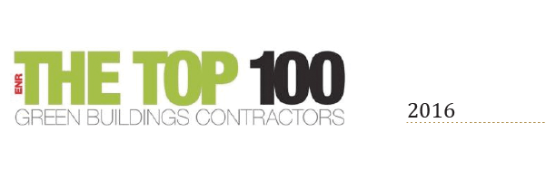 O&G awarded ENR The Top 100 Green Building Contractors