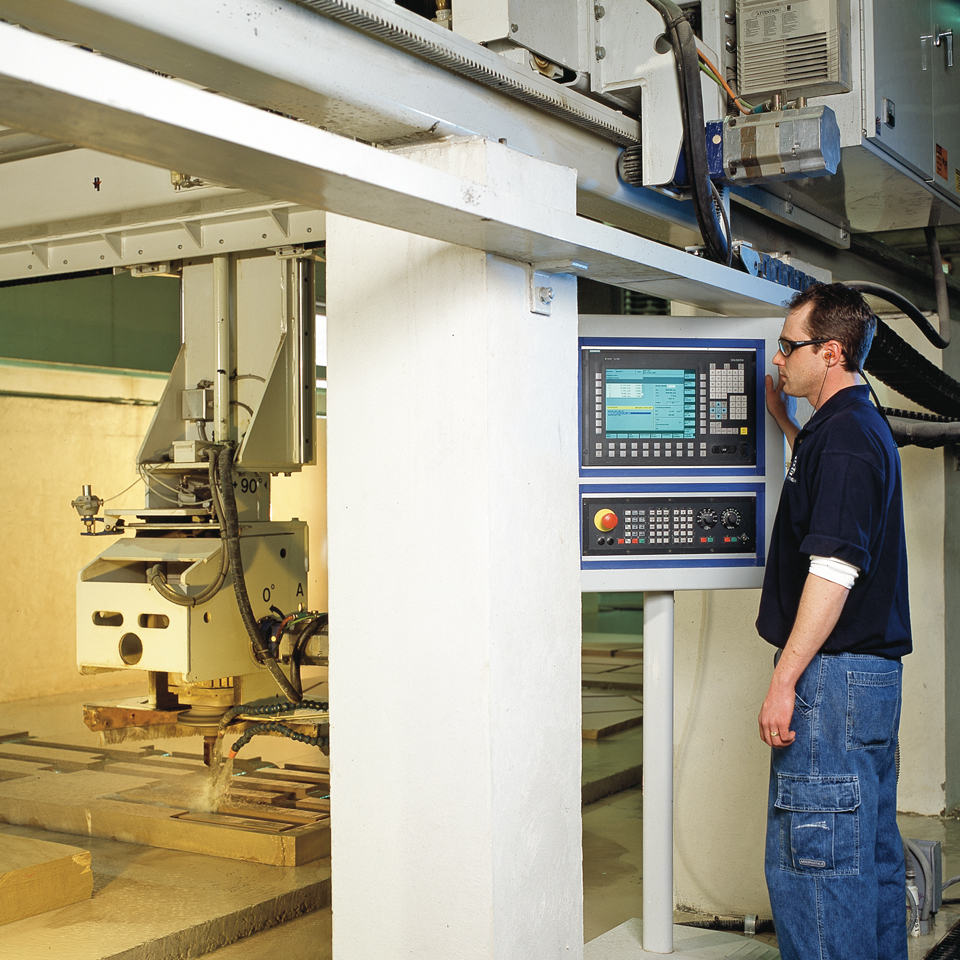 Inifinty custom stone fabrication CNC system at O&G Fabrication Center
