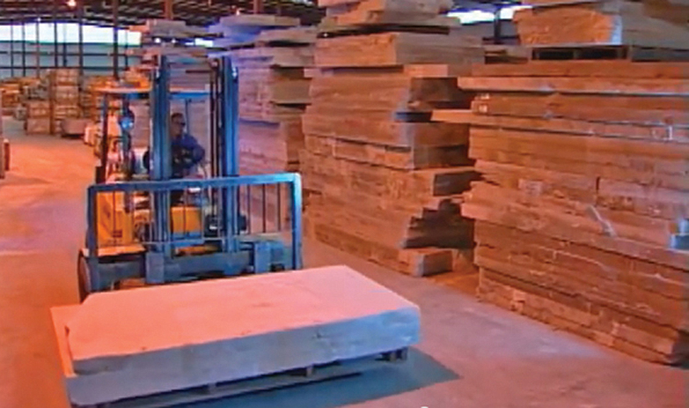 Extensive stone slab inventory at O&G's Fabrication Center