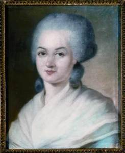 """Marie-Olympe-de-Gouges"" by Alexander Kucharsky - Collection particulière. Licensed under Public domain via Wikimedia Commons - http://commons.wikimedia.org/wiki/File:Marie-Olympe-de-Gouges.jpg#mediaviewer/File:Marie-Olympe-de-Gouges.jpg"