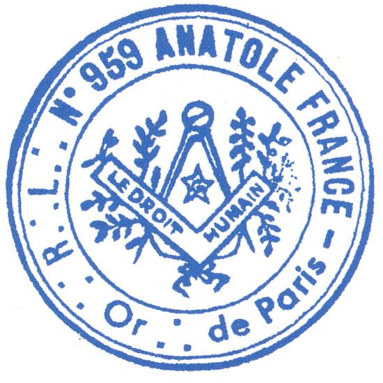 La Hermana Marcelle Alphand loge anatole france