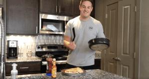 high-protein breakfast egg and egg white hash brown frittata omelet