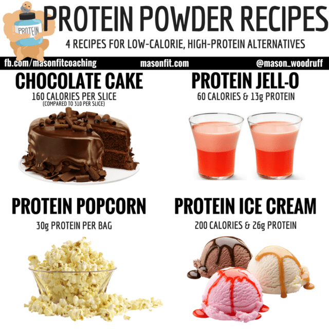 How to make low-calorie, high-protein chocolate cake, Jell-O, popcorn, and ice cream.