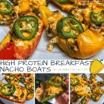 High Protein Breakfast Nacho Boats Recipe