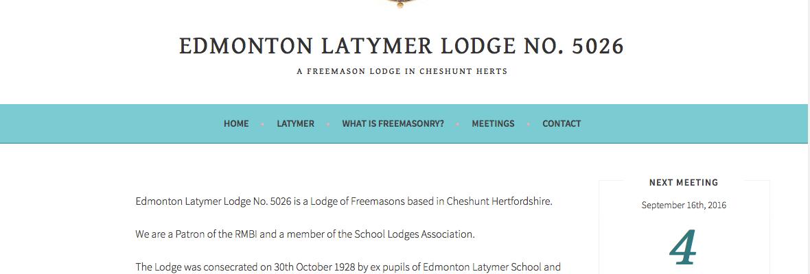 freemason Lodge website