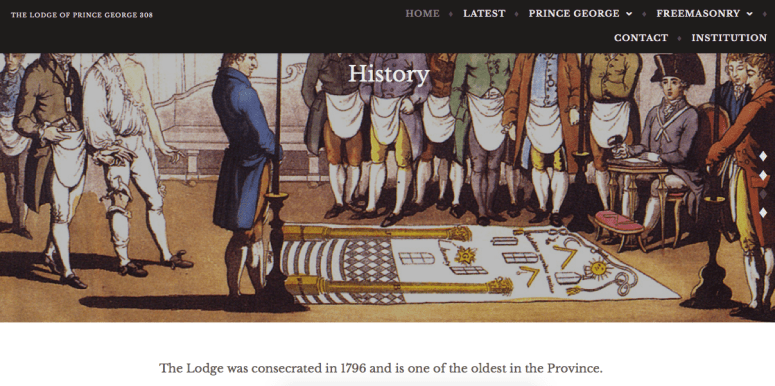 Lodge of Prince George - Modern Masonic website