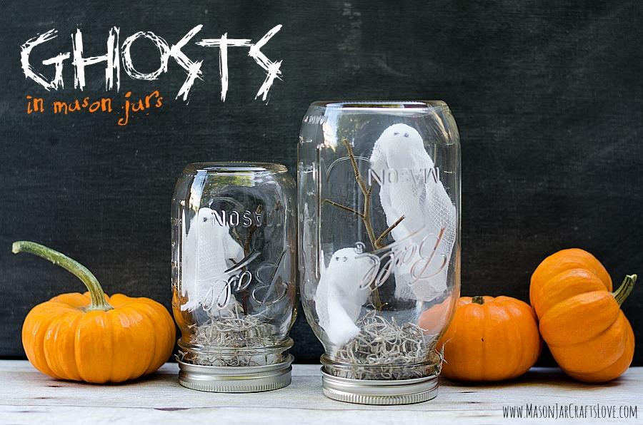 Ghosts in Mason Jars, by Mason Jar Crafts Love
