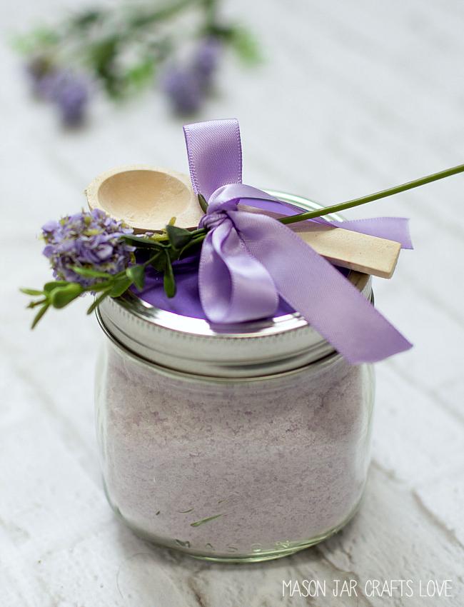 Bath Salts Lavender Mint Mason Jar Crafts Love