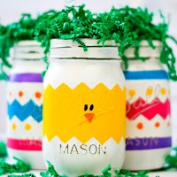 Peeps Mason Jars for Easter