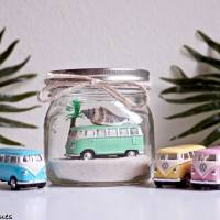 Beach Cars in Mason Jars