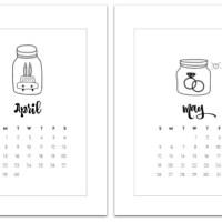 April & May Mason Jar Calendars