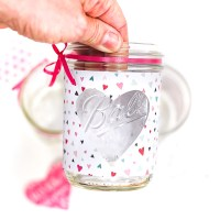 Easy Heart Cut Out Mason Jar Votive