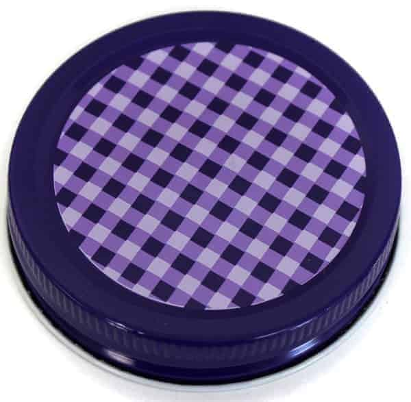 Orchard Road Purple Gingham Decorative Lids For Mason Jars