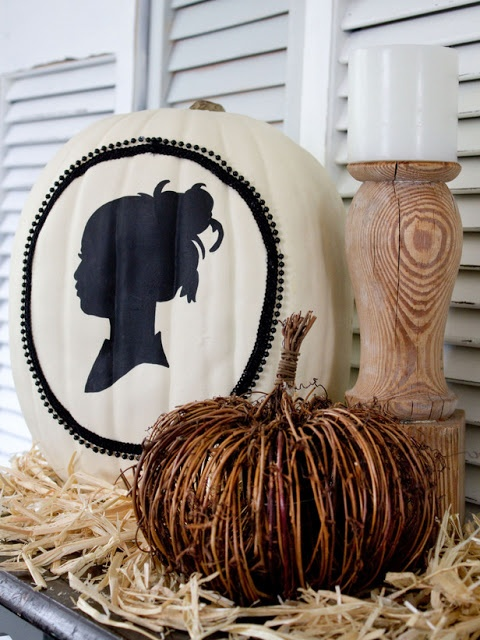 painted or vinyl decorated pumpkins