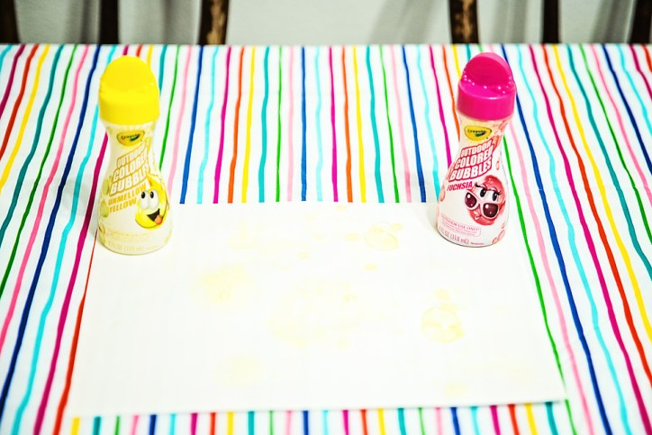 Favorite Things Spring Box Crayola Colored Yellow Pink Bubbles