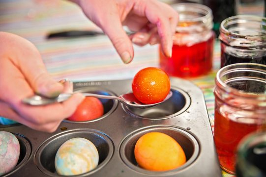 Easter Eggs bright orange