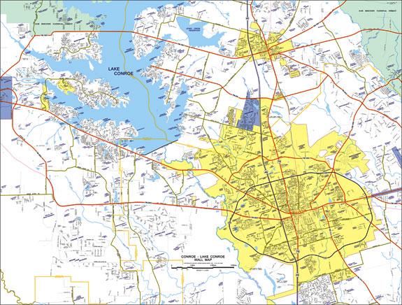 Texas Texas Conroe Map