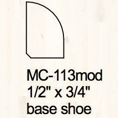 Shoe Mould 1/2″ x 3/4″ Image