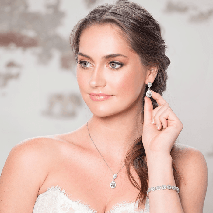 Kylie Bridal Silver Set