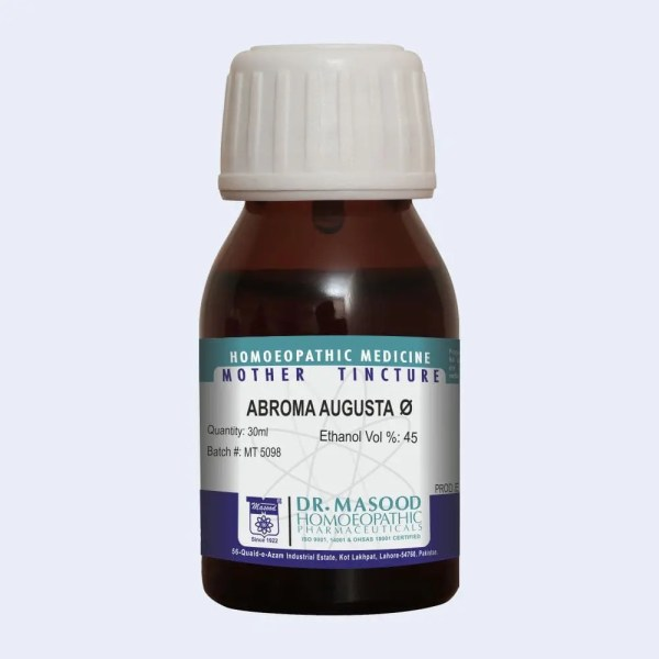Mother tincture of ABROMA AUGUSTA Q by Dr.Masood Homeopathic Pharmaceuticals