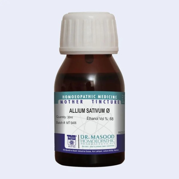 Mother Tincture of Allium sativum by Dr.Masood Homeopathic Pharmaceuticals