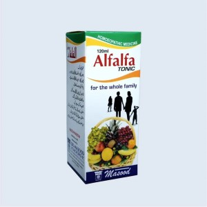 Alfalfa tonic for weight gain general health_dr_masood_homeopathic_120ml