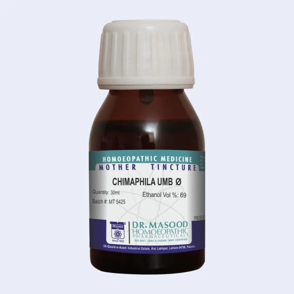 CHIMAPHILA UMBELLATE-Q-mother-tincture-dr.masood-homeopathic-pharma-pakistan