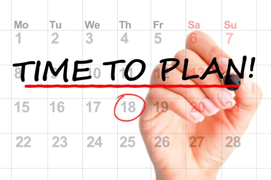 planning main calendrier stylo