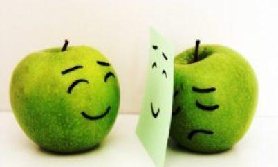 pomme contre coeur heureuse triste bonne santé sophrologie