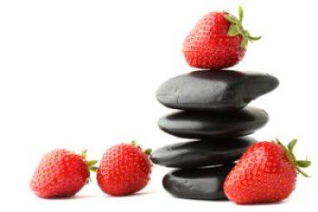 bonne santé nourriture alimentation fraises zen galets
