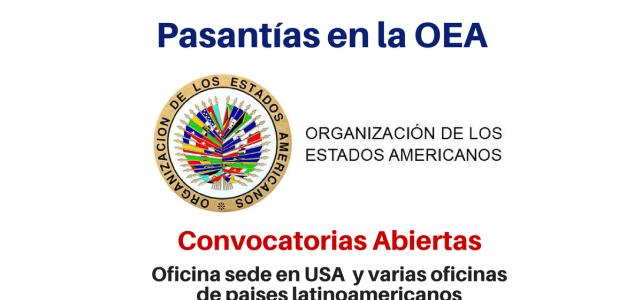 Pasantías en la OEA (Organización de Estados Americanos) para Latinoamericanos
