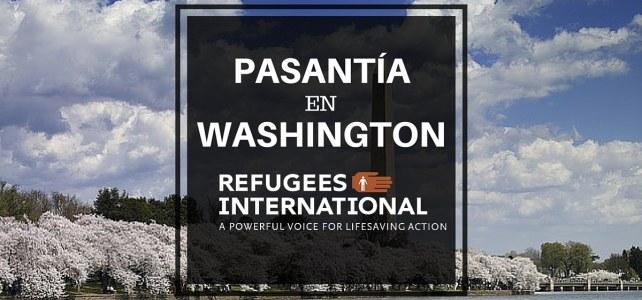 Pasantía en Washington -USA en temas humanitarios
