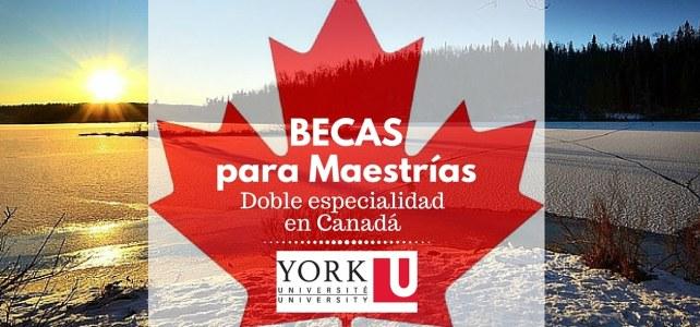 Becas para maestrías de doble especialidad en Canadá