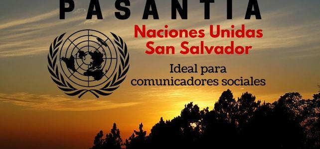 Pasantía con Naciones Unidas en San Salvador