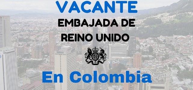 Vacante en la embajada del Reino Unido en Colombia