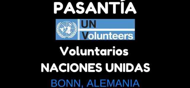 Pasantía con la Oficina de Voluntarios de Naciones Unidas en Alemania – Para jóvenes de todo el mundo
