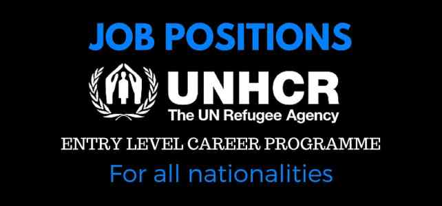 UNHCR is looking for great professionals around the world -entry programme