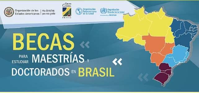 500 Becas para estudiar Maestrías o Doctorados en Brasil