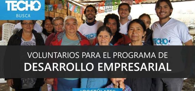 TECHO Colombia busca voluntarios !