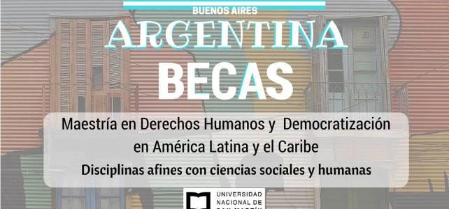 Becas en Argentina para Maestría en Derechos Humanos