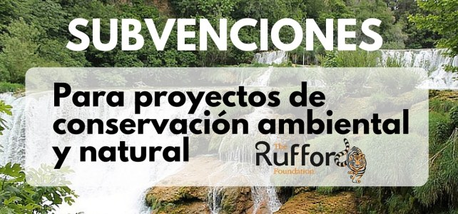 Subvenciones de la Fundación Rufford para conservación natural