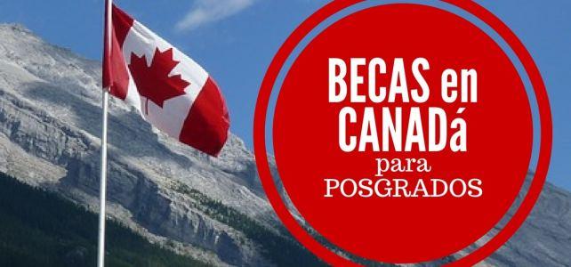 Becas para cursar postgrados en Canadá en Inglés