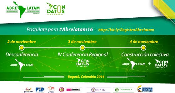 Convocatoria para participar en el evento de datos abiertos más importante de América Latina y el Caribe: Abrelatam / Condatos 2016