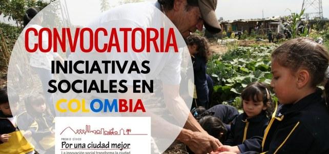 Convocatoria para iniciativas sociales en Colombia que mejoren la calidad de vida de sus comunidades