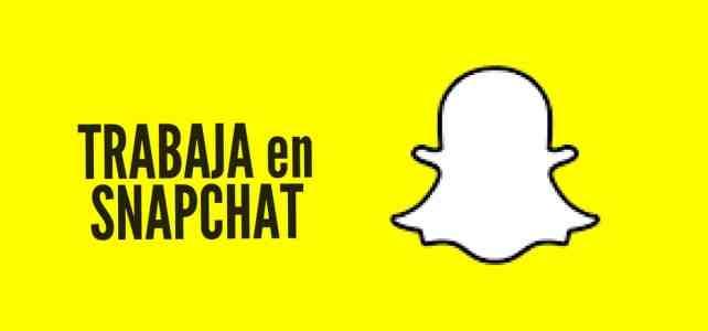 Vacantes laborales con Snapchat