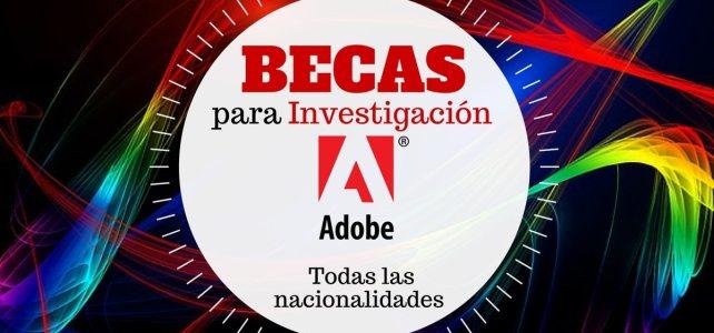 Becas de investigación con Adobe